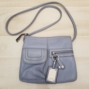 {OS} Tignanello Blue Gray Crossbody Purse
